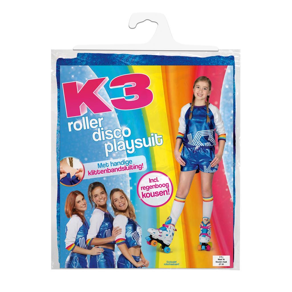 5eb170c0613729 Studio 100 K3 Outfit Roller Disco Met Regenboog Sokken 3-5 Jaar