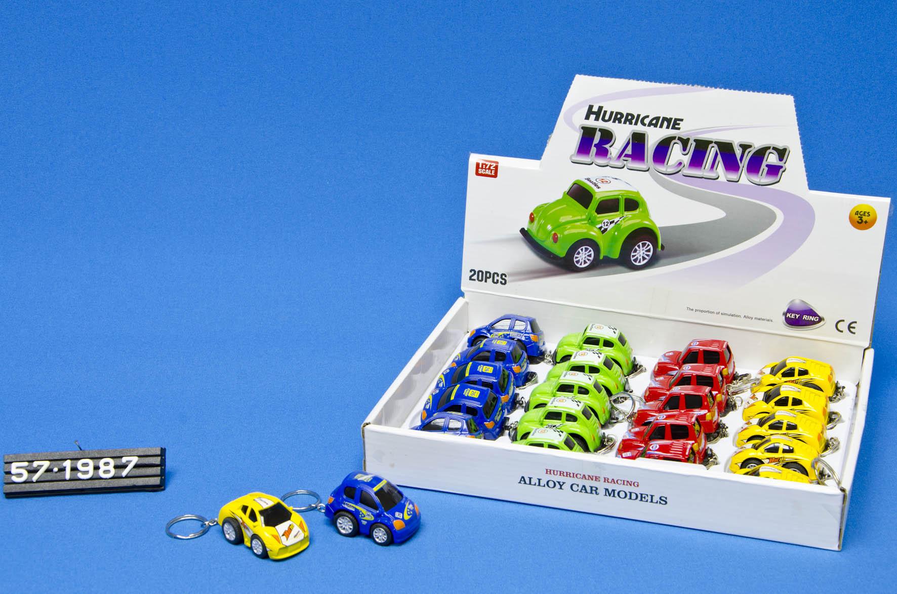 Sleutelhanger Die Cast Race Auto 6 Cm Ass Euro Artikelen Speelgoed